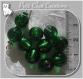 10 perles rondes vert fonce sapin verre lampwork 9-10mm feuille argent *l244