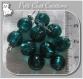 10 perles rondes vert fonce emeraude verre lampwork 9-10mm feuille argent *l245