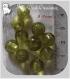 10 perles rondes vert kaki moyen verre lampwork 8-9mm feuille argent *l302