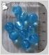 10 perles rondes bleu azur moyen verre lampwork 8-9mm feuille argent *l303