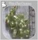 10 perles rondes vert kaki clair verre lampwork 9-10mm feuille argent *l290