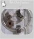 1 clip perle charm coeur metal argente pour bracelet collier serpent *cl8