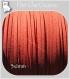 3m cordon suedine daim velvet fil textile orange nÉctarine 3x1mm *c175