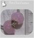 Lot de 2 charms perles donuts rondelles verre rose *d16