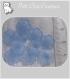 20 perles fleurs bleu ciel lucite plastique acrylique deco 10mm *f92