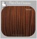 2,6m cordon daim velvet fil textile marron caramel clair 3x1mm *c137
