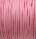 3m cordon rose moyen velvet fil 3x1mm textile suedine *c178