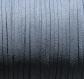 3m cordon suedine daim velvet fil textile bleu-gris 3x1mm *c177