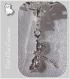 1 charm breloque sur mousqueton libellule metal argente strass cristal *v531