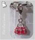 1 charm breloque sur mousqueton sac a main rouge metal argente *v12