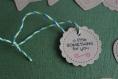 Etiquettes cadeaux minis tags à messages