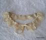 Col tissu liberty et dentelle coton beige clair - 636
