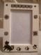 Cadre photo a poser ou accrocher décoration chat noir et ivoir