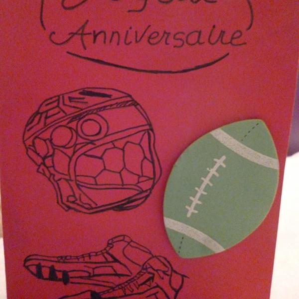 Carte Double Joyeux Anniversaire Rugbyman Par Ileauxtrouvailles