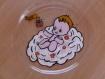 Assiette bébé sur un nuage idée cadeaux de bapteme anniversaire en peinture sur verre