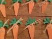 Marque place en forme de carotte pour