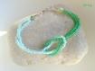 Bracelet croisé perles de rocaille vert