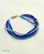 Bracelet bleu dégradé perles de rocaille