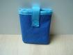 Pochette souple pour disque dur bleu