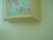 Cadre beige decor carte asiatique