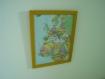 Cadre jaune decor carte européen