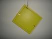 Cadre photo jaune carré bancale à suspendre