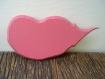 Coeur filant murale rose intense