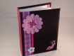 Album photo escarpin et fleurs couverture en soie noire