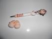 1 stylo bille recostumisé infirmiÈre avec socle en pate polymère / fimo