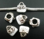 1 breloque charms sac à main émail blanc pr bracelet charms