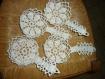 4 poelons blanc au crochet