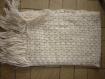 Belle echarpe ivoire neuve tricotee crochet