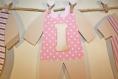 Guirlande linge de bébé avec prénom en 3d pour baby shower, décoration d'anniversaire ou décoration de porte de chambre de maternité