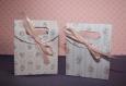 Lot de 6 emballages cadeau faite main avec tendresse en carton, motif shabby chic ou à choisir