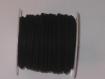 Cordon suédine de couleur noir