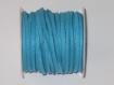 Cordon suédine de couleur bleu