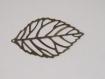 Lot de 3 feuilles filigrane bronze