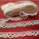 Dentelle mécanique coton blanc largeur 1,5 cm / mètre