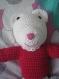 Amigurumi ours pour fille ou garcon doudou tricote avec du fil 100% coton