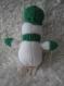 Bonhomme de neige vert en laine decoration de noel