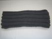 Echarpe homme/femme laine 100% merinos  marque fonty couleur gris tricot fait main