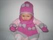 Ensemble bebe bonnet + echarpe + moufles laine baby alpaga et merinos