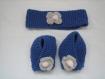 Ensemble bandeau chaussons pour bebe laine baby alpaga