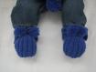 Ensemble bebe bonnet+echarpe+chaussons laine alpaga et merinos