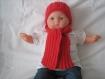Bonnet+echarpe laine merinos