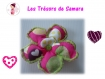 Fleur amovible ma valentine rose pour cache-coeur ou bandeau