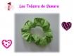 Chouchou ma valentine en coton vert anis *