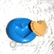 Moule silicone macaron coeur 24/20mm
