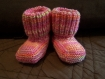 Chaussons tons de rose (taille naissance)
