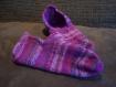 Chaussons violet pour adulte - type vendéen